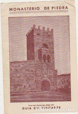 MONASTERIO DE PIEDRA. GUÍA DEL VISITANTE. (Coleccionismo - Folletos de Turismo)