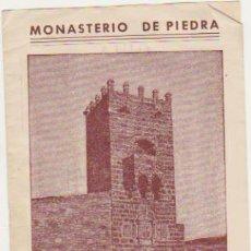 Folletos de turismo: MONASTERIO DE PIEDRA. GUÍA DEL VISITANTE.. Lote 128635995