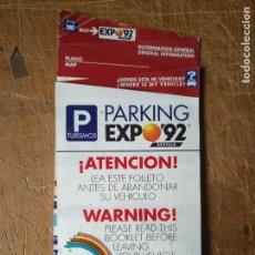 Folhetos de turismo: FOLLETO TURISTICO EXPO 92 SEVILLA , MASCOTA CURRO. Lote 128856751