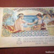 Folletos de turismo: VALENCIA. CINCUENTENARIO DE LA EXPOSICIÓN REGIONAL VALENCIANA 1909-1959 - ATENEO MERCANTIL.. Lote 129330420