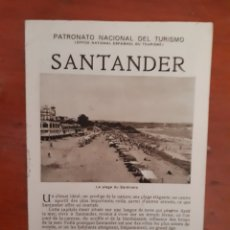 Folletos de turismo: FOLLETO TURISMO SANTANDER. Lote 129365155