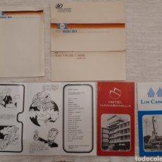 Folletos de turismo: LOTE CUBA AÑOS 80 FOLLETOS HOTELES, PAPEL Y SOBRES.. Lote 130281416