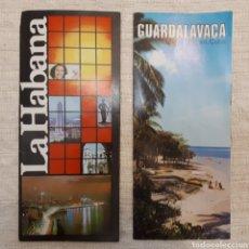 Folletos de turismo: FOLLLETO TURISMO LA HABANA + GUARDALAVACA, CUBA. Lote 130281734