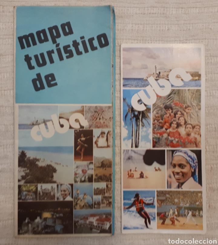 MAPA TURÍSTICO CUBA + FOLLETO PUBLICITARIO SOY CUBA (Coleccionismo - Folletos de Turismo)