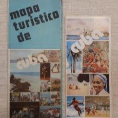 Folletos de turismo: MAPA TURÍSTICO CUBA + FOLLETO PUBLICITARIO SOY CUBA. Lote 130282040