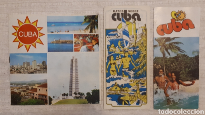 LOTE 3 FOLLETOS TURÍSTICOS CUBA (Coleccionismo - Folletos de Turismo)
