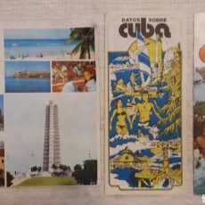 Folletos de turismo: LOTE 3 FOLLETOS TURÍSTICOS CUBA. Lote 130282256