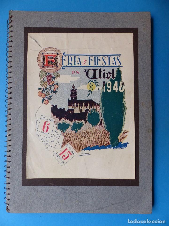 UTIEL, VALENCIA - PROGRAMA FERIA Y FIESTAS - AÑO 1948 (Coleccionismo - Folletos de Turismo)