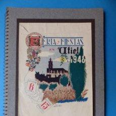 Folletos de turismo: UTIEL, VALENCIA - PROGRAMA FERIA Y FIESTAS - AÑO 1948. Lote 130346190