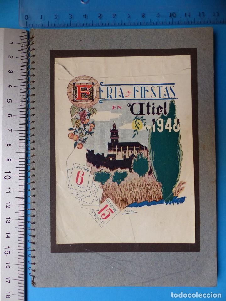 Folletos de turismo: UTIEL, VALENCIA - PROGRAMA FERIA Y FIESTAS - AÑO 1948 - Foto 2 - 130346190