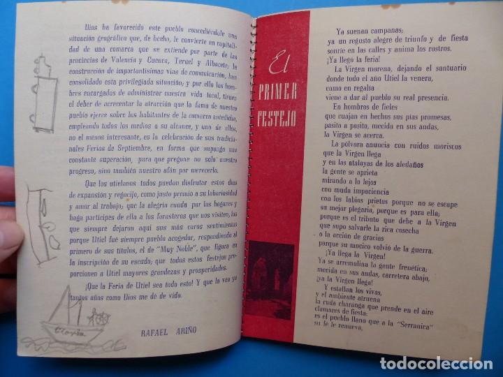 Folletos de turismo: UTIEL, VALENCIA - PROGRAMA FERIA Y FIESTAS - AÑO 1948 - Foto 7 - 130346190
