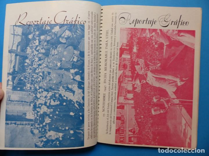 Folletos de turismo: UTIEL, VALENCIA - PROGRAMA FERIA Y FIESTAS - AÑO 1948 - Foto 9 - 130346190