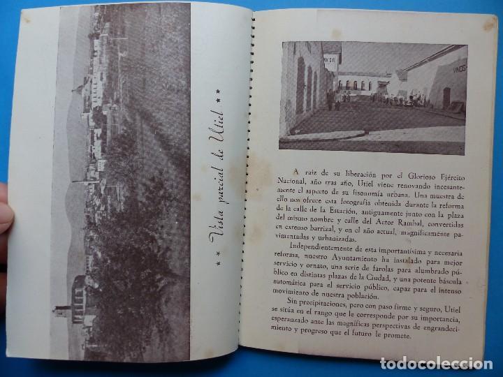 Folletos de turismo: UTIEL, VALENCIA - PROGRAMA FERIA Y FIESTAS - AÑO 1948 - Foto 12 - 130346190