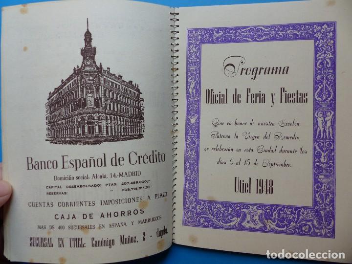 Folletos de turismo: UTIEL, VALENCIA - PROGRAMA FERIA Y FIESTAS - AÑO 1948 - Foto 14 - 130346190
