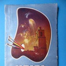 Folletos de turismo: UTIEL, VALENCIA - PROGRAMA FERIA Y FIESTAS - AÑO 1961. Lote 130346630