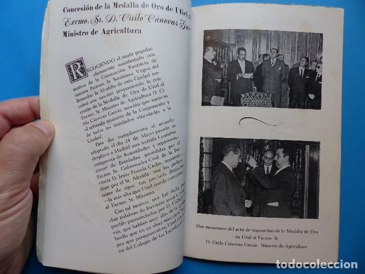 Folletos de turismo: UTIEL, VALENCIA - PROGRAMA FERIA Y FIESTAS - AÑO 1961 - Foto 9 - 130346630