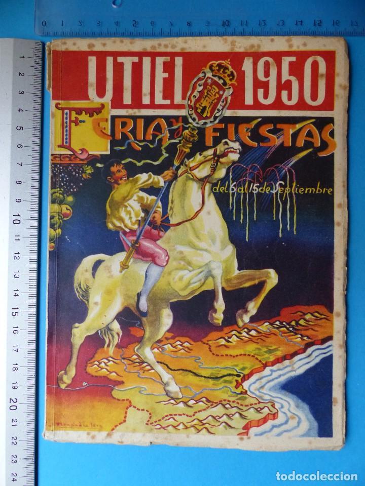 Folletos de turismo: UTIEL, VALENCIA - PROGRAMA FERIA Y FIESTAS - AÑO 1950 - Foto 2 - 130347198