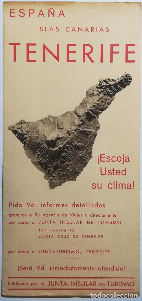 ESPAÑA, ISLAS CANARIAS, TENERIFE. (Coleccionismo - Folletos de Turismo)