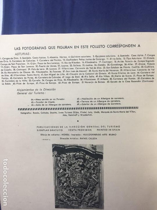 Folletos de turismo: ASTURIAS GUIA TURISTICA DIRECCION GENERAL DE TURISMO DIBUJOS DE MORELL HUECOGRABADO ARTE BILBAO - Foto 6 - 131579014