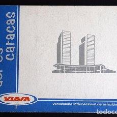 Folletos de turismo: VENEZUELA - ASÍ ES CARACAS – VENEZOLANA DE AVIACIÓN, VIASA - AÑOS 1960S. Lote 131868426