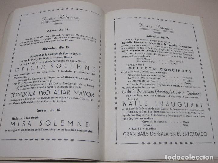 Folletos de turismo: Programa Fiesta Mayor. Villa de Cardedeu. 15-18 agosto de 1956 - Foto 2 - 132722846