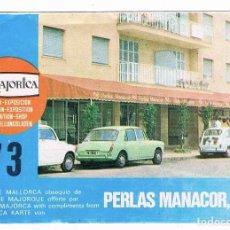 Folletos de turismo: MAJORICA 73 - PERLAS MANACOR - MALLORCA - CATALOGO 1975. Lote 132751298