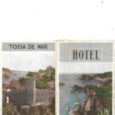 Folletos de turismo: HOTEL ANCORA EN TOSSA DE MAR. FOLLETO DESPLEGABLE EN 6 PARTES A DOBLE CARA CON 11 FOTOS.. Lote 132820030