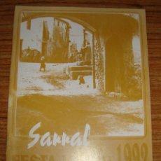 Folletos de turismo: (TC-134) PROGRAMAS DE FIESTAS FESTA MAJOR DE SARRAL 1992. Lote 132885130