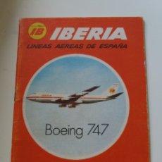 Folletos de turismo: IBERIA. LINEAS AÉREAS. DELEG. VALENCIA. CUADERNILLO. 1972. Lote 132969715