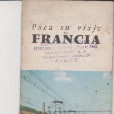 Folletos de turismo: LOTE A-FOLLETO DE TURISMO FERROCARRIL TREN AÑOS 50-60. Lote 133393230
