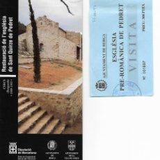 Folletos de turismo: RESTAURACIÓ DE L'ESGLÉSIA DE SANT QUIRZE DE PEDRET. CERCS. BERGUEDÀ. CATALUNYA. MEDIEVAL.. Lote 133441242