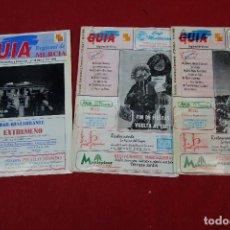 Folletos de turismo: LOTE DE 3 GUIAS DE LA REGION DE MURCIA. Lote 133539714
