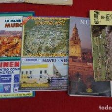 Folletos de turismo: LOTE DE GUIAS DE MURCIA DE DIFERENTES EPOCAS. Lote 133542290