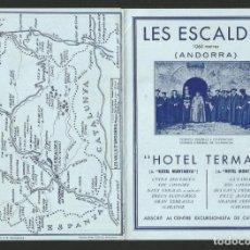 Folletos de turismo: ANDORRA - LES ESCALDES - HOTEL TERMAS - CUATRIPTIC - 11 X 15,7 CM. PLEGAT. Lote 133624846