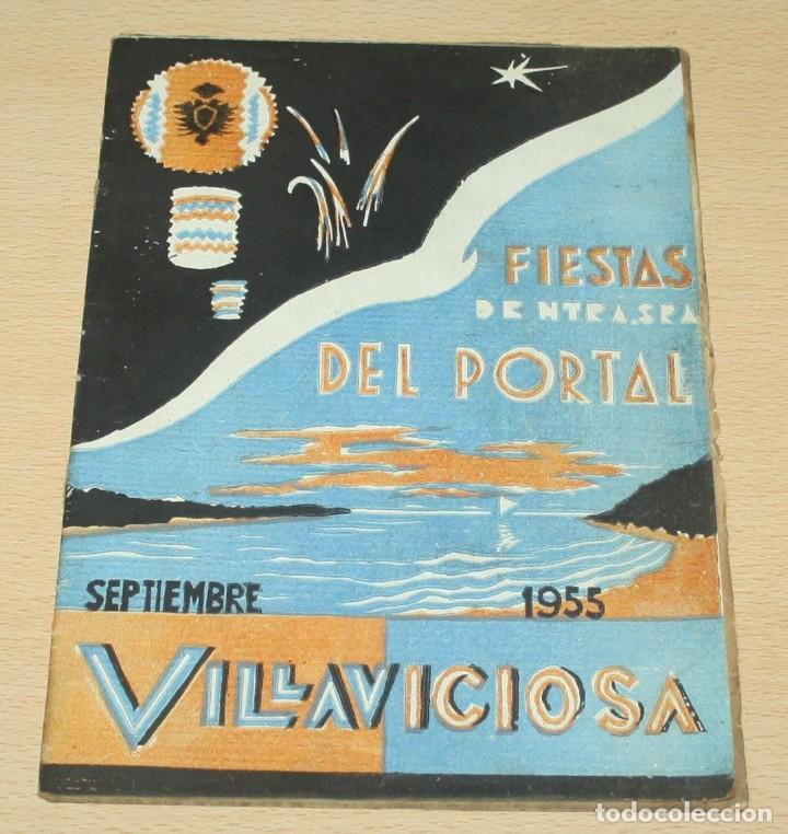 VILLAVICIOSA FIESTAS NUESTRA SEÑORA DEL PORTAL 1955 (Coleccionismo - Folletos de Turismo)