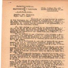 Folletos de turismo: DELEGACION PROVINCIAL DE ABASTECIMIENTOS Y TRANSPORTES DE SANTANDER. RACIONAMIENTO DE PAN. 1952. Lote 133918711