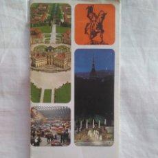 Folletos de turismo: FOLLETO TURISTICO CON MAPA PLANO TORINO TURIN ITALIA. ITINERARIOS . 1970. EN ITALIANO. Lote 134098238