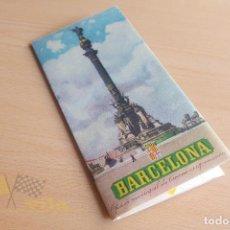 Folletos de turismo: FOLLETO DE BARCELONA - CON MAPA - AÑOS 50. Lote 134302578