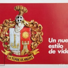 Folletos de turismo: FOLLETO PUBLICITARIO / TURÍSTICO - LA TORRE DE ARENYS, ARENYS DE MAR - AÑOS 70. Lote 134396970