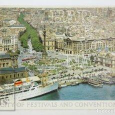 Folletos de turismo: FOLLETO TURÍSTICO EN INGLÉS - BARCELONA. CITY OF FESTIVALS AND CONVENTIONS - AÑOS 70-80. Lote 134397166