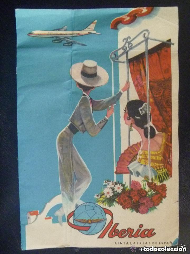 CARPETILLA DE PUBLICIDAD DE IBERIA , AÑOS 60 (Coleccionismo - Folletos de Turismo)