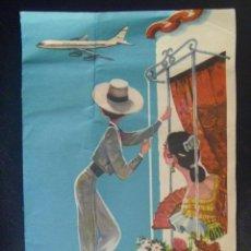 Folletos de turismo: CARPETILLA DE PUBLICIDAD DE IBERIA , AÑOS 60. Lote 135073126
