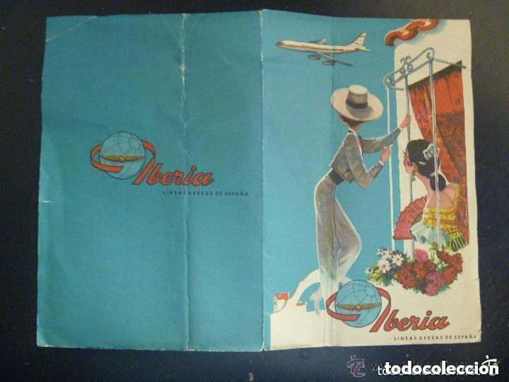 Folletos de turismo: CARPETILLA DE PUBLICIDAD DE IBERIA , AÑOS 60 - Foto 2 - 135073126