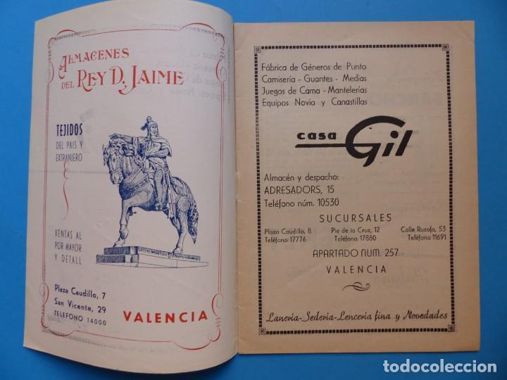 Folletos de turismo: VALENCIA, LLIBRET DE LA FALLA DEL TIO PEP CAUDILLO SAN VICENTE, AÑO 1951 - FALLAS DE SAN JOSE - Foto 2 - 135633571
