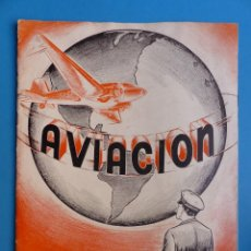 Folletos de turismo: REVISTA AVIACION, LAS ALAS DEL PROGRESO, AÑO 1937, NATIONAL SCHOOLS, LOS ANGELES, CALIFORNIA. Lote 135633923