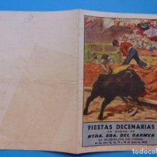 Folletos de turismo: BONITO PROGRAMA - RUBIELOS DE MORA, TERUEL FIESTAS DE JULIO DE 1950, NUESTRA SEÑORA DEL CARMEN. Lote 135863518