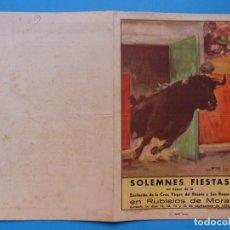 Folletos de turismo: BONITO PROGRAMA - RUBIELOS DE MORA, TERUEL SEPTIEMBRE DE 1947, EXALTACION DE LA CRUZ, VIRGEN ROSARIO. Lote 135864258