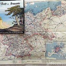 Folletos de turismo: EL NORTE DE ALEMANIA. (JUEGOS OLÍMPICOS DE BERLÍN 1936). FOTOS. MAPA PLEGADO A COLOR. NAZISMO. Lote 136022358