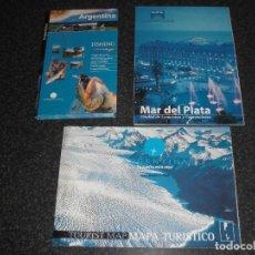 Folletos de turismo: LOTE 3 REVISTAS TURÍSTICAS ARGENTINA (INCLUYE MAPA) . Lote 136045954