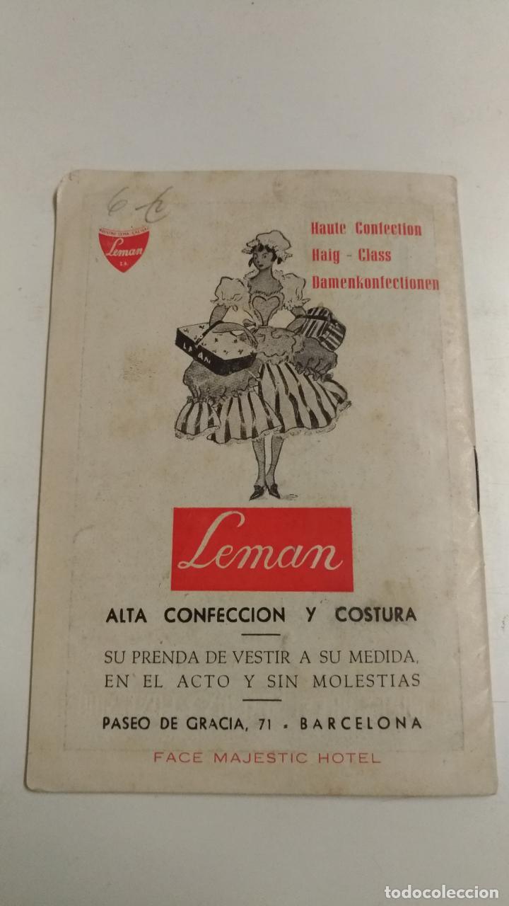 Folletos de turismo: Hotel Gran via Barcelona. Numenclator de espectaculos Barcelona. 1951 Barcelona del 2 al 8 de Abril - Foto 2 - 136350838